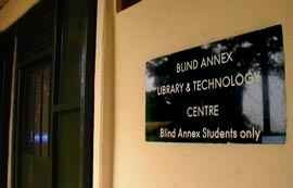 blind annex and library